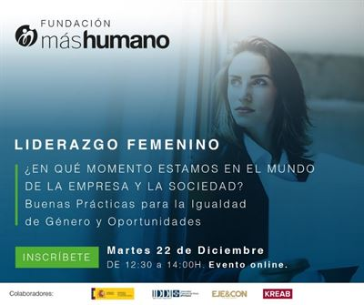 """Jornada """"Liderazgo Femenino. Buenas prácticas y oportunidades para la Igualdad de Género"""""""