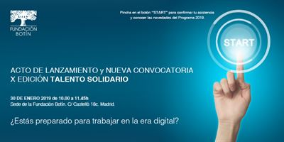 X Edición del programa Talento Solidario: lanzamiento y convocatoria
