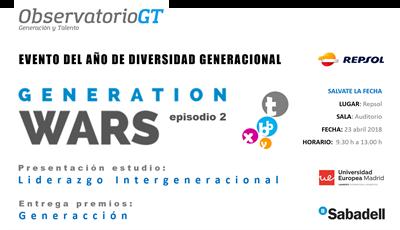 Generation Wars - Evento sobre Diversidad Generacional