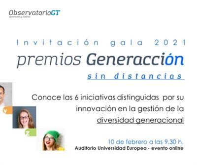 Acto de entrega Premios Generacción 2021
