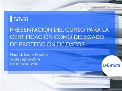 Presentación del curso para la certificación como Delegado de Protección de Datos